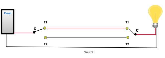 Complete 3-way circuit diagram