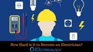How hard to beome an electrician?