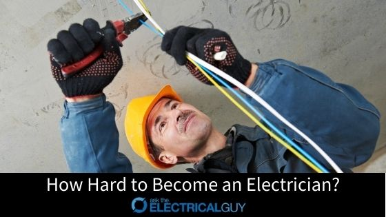 Man with Hard Hat and gloves cutting electrical wires.