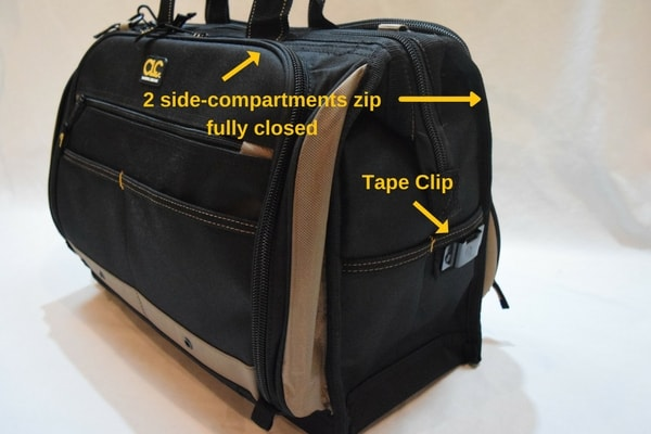 CLC 1539 Tape Clip and zipped compartments