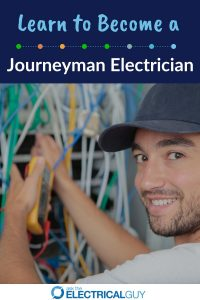 Journeyman electrician working