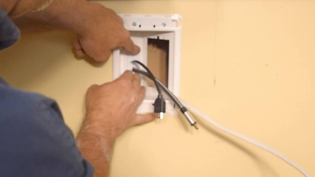 Adding trim piece over HDMI opening